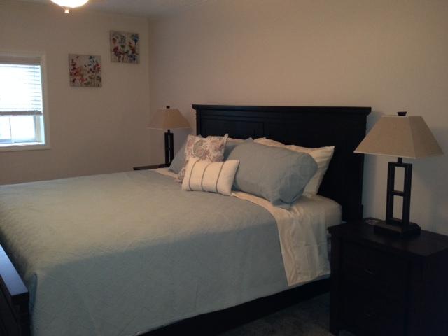 Chautauqua Rental Blue King bed